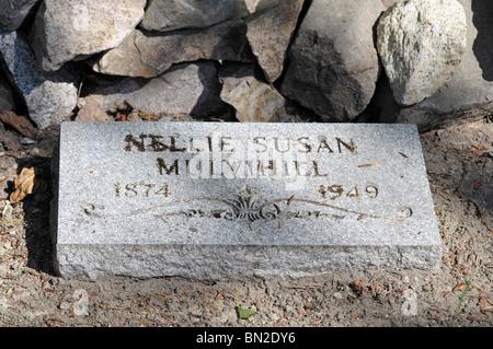 Grave Marker, Gold Rush Cemetery, Skagway, Alaska. - Stock Photo