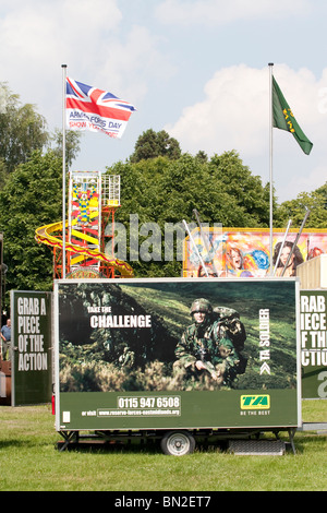 A TA army recruitment centre at an Armed Forces Day event - Stock Photo