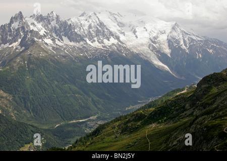 valley of Chamonix-Mont-Blanc, France, Europe - Stock Photo