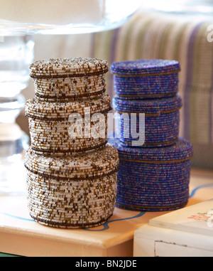 Beaded Baskets - Stock Photo
