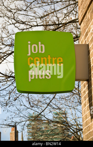 Job Centre Plus sign on outside of building - Stock Photo