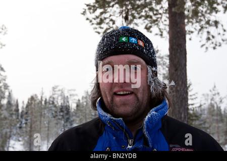 Rein Tafenau, I, Lapland, Finland, Winter, Snow, Cold, frosty - Stock Photo