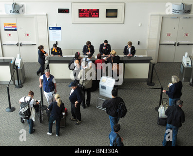 Boarding at San Francisco International Airport (SFO/KSFO), Millbrae CA - Stock Photo