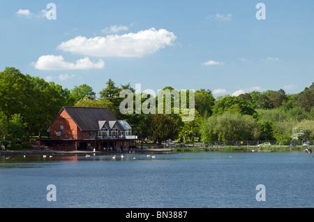 The Lake, Llandrindod Wells, Powys, Wales, UK - Stock Photo