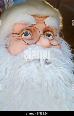 Life-size Santa Claus figure in store display, Orlando, Florida, USA - Stock Photo