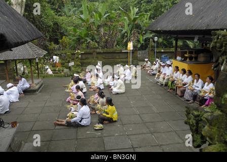 Ceremony, Pura Luhur Batukau, Bali, Indonesia, Asia - Stock Photo