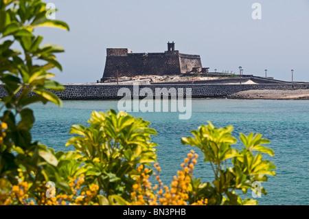 Castillo San Gabriel, Arrecife, Lanzarote, Canary Islands, Spain, Europe - Stock Photo