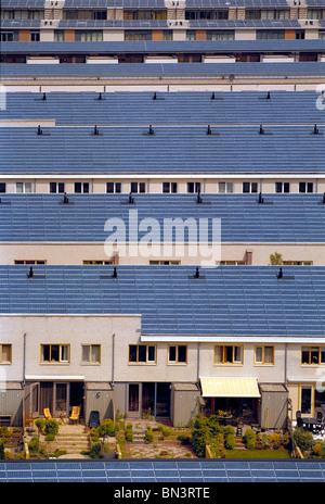 Solar panels on roofs - Stock Photo
