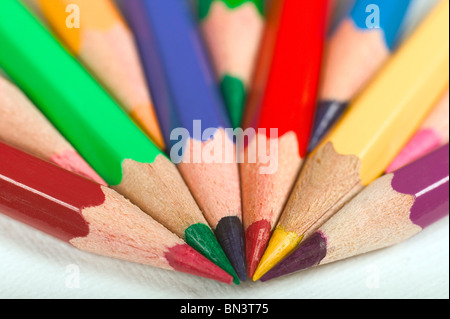 Close-up of colored pencils - Stock Photo