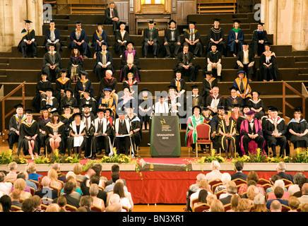 Graduation day University College of the Arts Norwich England - Stock Photo