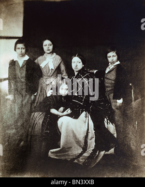 Prince of Wales, Princess Royal, Princess Alice, Queen Victoria and Prince Alfred, photo Roger Fenton. England, - Stock Photo