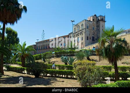 Palermo Palace, Palermo, Sicily, Italy - Stock Photo