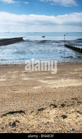 Low tide at Southend on Sea in Essex.  Photo by Gordon Scammell - Stock Photo
