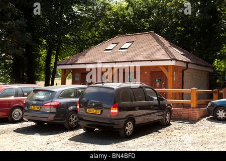 public toilets in car park in Selborne - Stock Photo