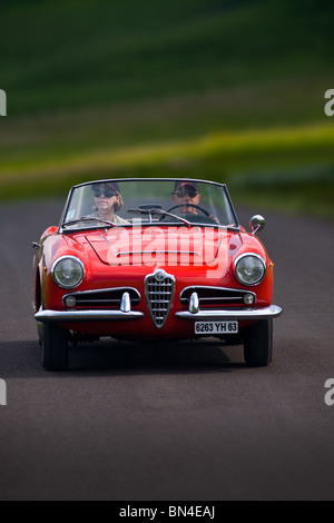 car alfa giulia spider 1600 vintage car model year 1956 1966 red stock photo royalty free. Black Bedroom Furniture Sets. Home Design Ideas