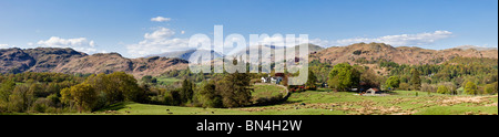 Lake District, Cumbria, England UK - Looking towards the Coniston and Furness Fells, UK - panorama