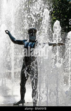 Statue of zeus, place du nombre d'or Montpellier, Herault, Languedoc-Roussillon, France - Stock Photo