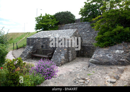 St Trillos Chapel believed to be the smallest church in the British Isles seating only 6 people situated at Rhos - Stock Photo