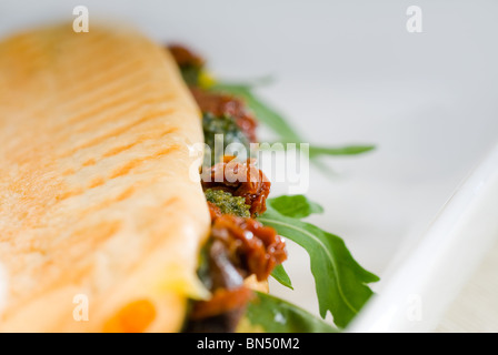 fresh homemade panini sandwich ,typical italian snack - Stock Photo