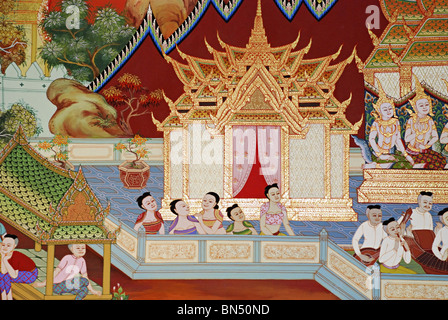 A typical Thai style painting - Stock Photo