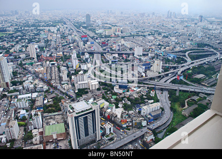 """A view from 88th floor revolving gallery of """"Baiyoke Sky Hotel """"- Thailand's Tallest Hotel - Stock Photo"""