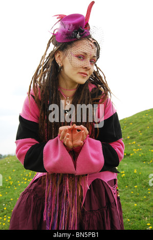 pink fairy in Glastonbury United Kingdom - Stock Photo