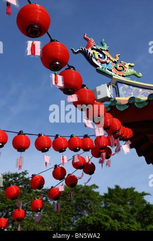 Tua Pek Kong temple in Kuching, Sarawak, Malaysia - Stock Photo