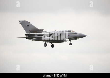 Panavia Tornado GR4 arrives at RAF Waddington International Airshow - arrivals 02 July 2010 - Stock Photo