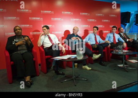 Candidates for Labour Party leadership at hustings with party members in Cardiff South Wales UK - Stock Photo
