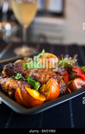 Chicken dinner - Stock Photo