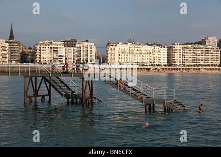 San Sebastian, Gipuzkoa, Basque Country, Spain - Stock Photo