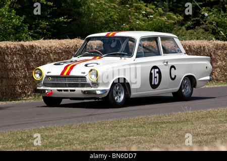 1964 Ford Lotus Cortina Mk1 Bathurst at the Festival of Speed,  Goodwood, 2010 - Stock Photo
