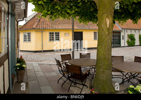 Hans Christian Andersens Childhood Home in Odense - Stock Photo