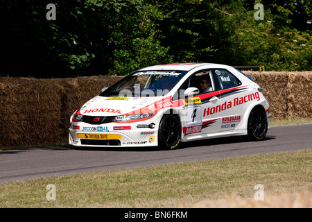 2010 Honda Civic Type-R at the Festival of Speed, Goodwood, 2010. Driven by Gordon Sheddon and Matt Neal, - Stock Photo