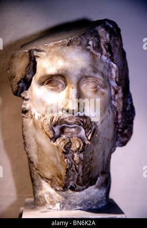 Asklepios Greek God medicine Asclepios  head