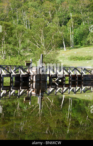 Crawford Notch State Park - Saco River at the Willey House Historical Site in the White Mountains, New Hampshire - Stock Photo