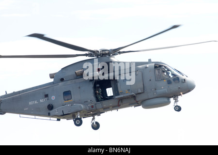 Merlin HM.1 ZH827/80 Arthur of 824 NAS, Royal Navy helicopter, RAF Waddington, Lincoln, International Airshow. The - Stock Photo