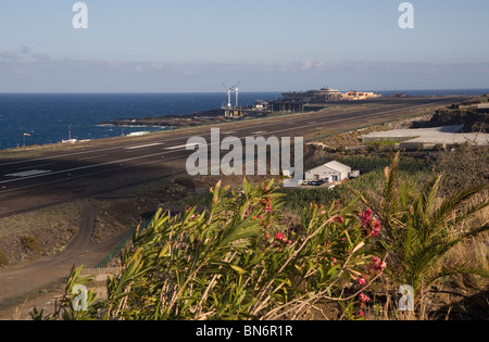 Spain Canary islands La Palma airport - Stock Photo