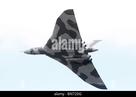 AVRO Vulcan RAF Waddington, Lincoln, International Airshow. Avro Vulcan XH558 (civil aircraft registration G-VLCN) - Stock Photo