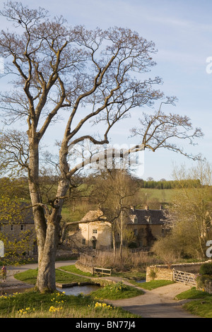 Upper Slaughter, Cotswolds, Gloucestershire, England - Stock Photo