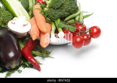 low-calorie vegetables - Stock Photo