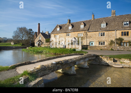 Lower Slaughter, Cotswolds, Gloucestershire, England, UK - Stock Photo