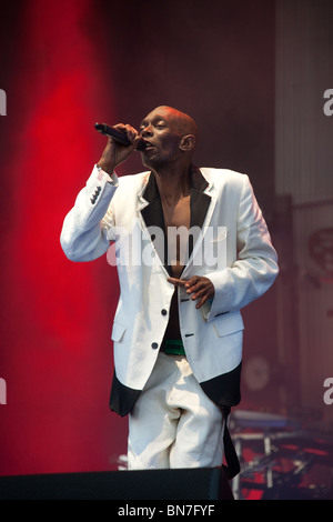 Faithless performing at the Glastonbury festival 2010 - Stock Photo
