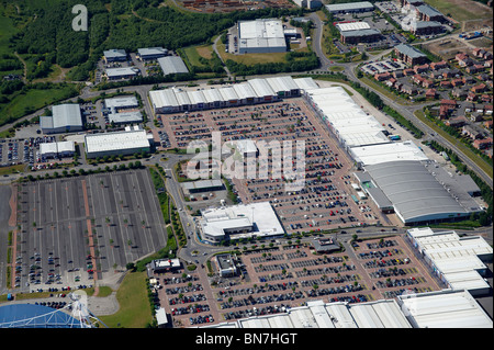 Reebock Retail Park. Bolton, Lancashire, North West England - Stock Photo