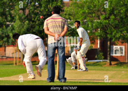 Cricket Match in Luton - Stock Photo