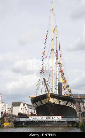 SS great Britain berthed at bristol floating harbour - Stock Photo