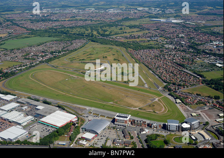 Aintree Racecourse, home of the Grand National, Liverpool, North West England - Stock Photo