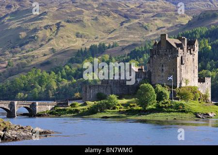 Eilean Donan Castle in Loch Duich in the Western Highlands of Scotland, UK - Stock Photo