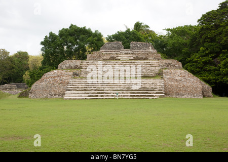 The Ruins of the ancient Mayan city of Altun Ha in Belize. - Stock Photo