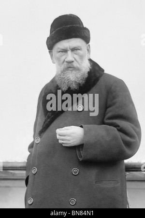 Russian writer Leo Tolstoy (1828 - 1910) - author of War and Peace and regarded as one of the greatest ever novelists. - Stock Photo